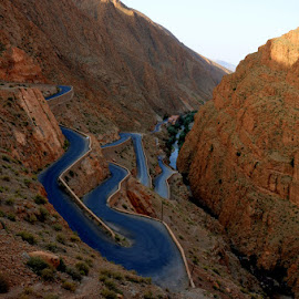 Dades Gorges by Linden Head - Landscapes Travel ( road, morocco, travel photography )