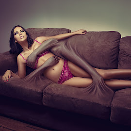 Let me go by Chris Gonzalez - Digital Art People ( sofa, lingerie, couch, girl, sigma, d800, art, 35mm, arms, nikon, digital )