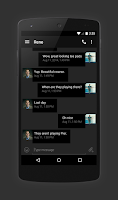 Screenshot of EvolveSMS Theme Hangout Dark