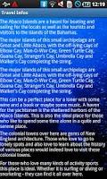 Screenshot of Abaco Bahamas Travel Guide