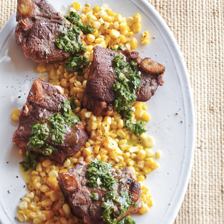 Pan-Roasted T-Bone Chops with Salsa Verde