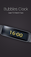 Screenshot of Bubbles Clock for Gear Fit