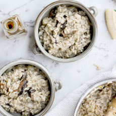 Mushroom, Fennel, and Truffle Oil Risotto