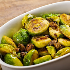 Brussels Sprouts With Fried Chicken Liver