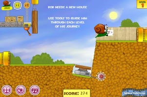 Screenshot of Snail Adventure Game