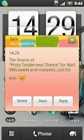 Screenshot of Wali SMS-Pink tenderness theme