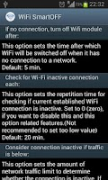 Screenshot of WiFi SmartOFF