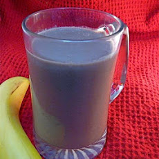 Chocolate Soymilk Banana Peanut Butter Smoothie