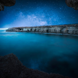 Exodus by Pavlos Pavlou - Digital Art Places ( stars, art, artistic, sea, seascape, rocks, photo, cyprus, photography, artwork, milky way, galaxy,  )