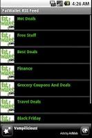 Screenshot of Fat Wallet RSS Reader