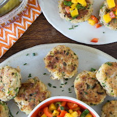 Crab Cakes with Mango Pepper Relish