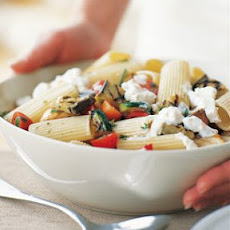 Rigatoni with Goat Cheese and Vegetables