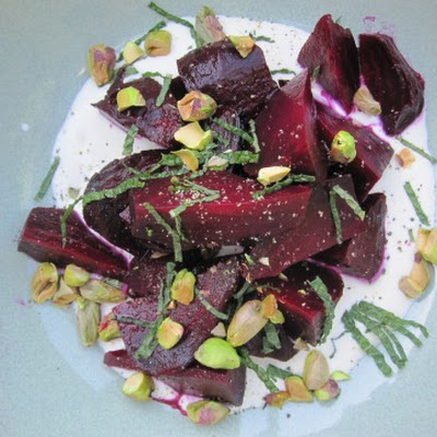 Beets with Pistachios and Mint