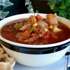 Aunt Gin's Vegetable Soup (Crock Pot)