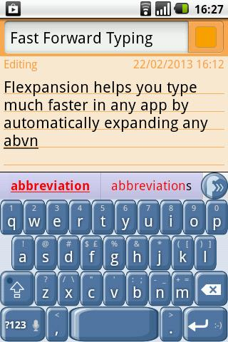 Flexpansion Keyboard FREE Screenshot 0