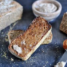 Whole Wheat Pumpkin Spice English Muffin Bread with Brown Sugar Cinnamon Butter