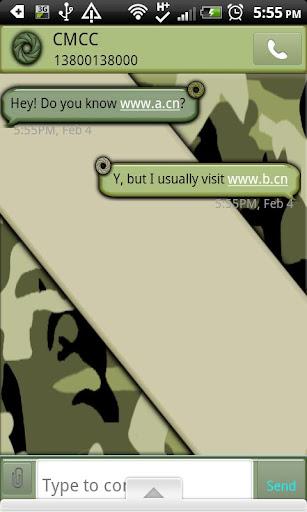 GO SMS THEME CamouflageCamo