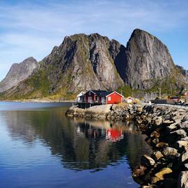 Lofoten, Norway by Petr Podroužek - Landscapes Mountains & Hills ( mountains, sky, sea, lofoten, norway )