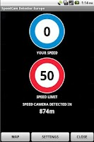 Screenshot of SpeedCam Detector Europe