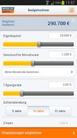 Screenshot of Finanzplaner Baufinanzierung