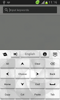 Screenshot of White Keyboard Theme