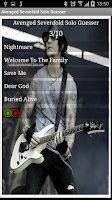 Screenshot of Avenged Sevenfold Solo Guesser