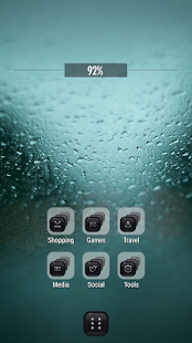 Raindrop Drizzle Window Theme - screenshot