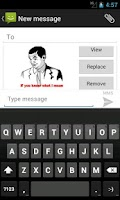 Screenshot of SMS Rage Faces