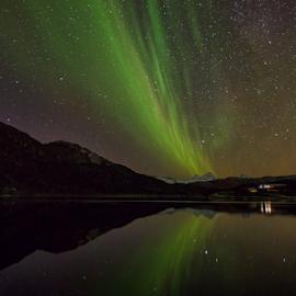 Mirror, mirror by Ann-Kristin Heimly - Landscapes Starscapes ( peace, northern lights, aurora borealis, night, norway,  )
