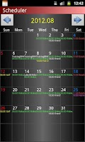 Screenshot of Scheduler