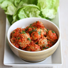 Italian Turkey, Quinoa & Zucchini Meatballs Recipe in Lettuce Wraps