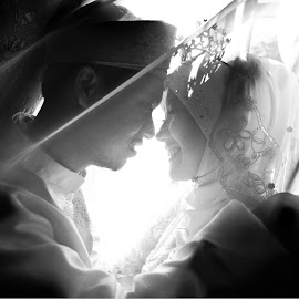 Yusni & Nas by Caownphotography Shahrol - Wedding Bride & Groom ( love, kiss, wedding, couple, loving, bride, groom )
