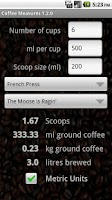 Screenshot of Coffee Measures