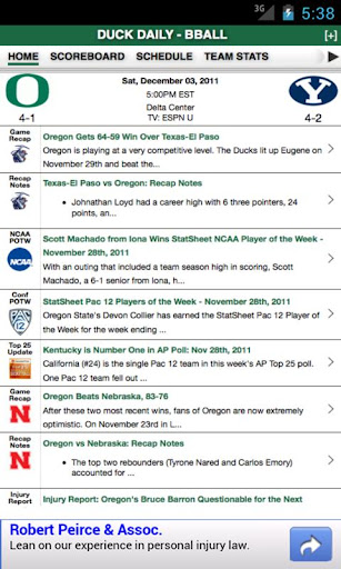 Oregon Football Basketball