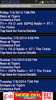 Screenshot of Schedule Detroit Tigers fans