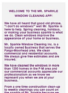 Mr Sparkle Window Cleaning - screenshot