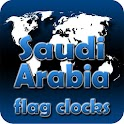 Saudi Arabia flag clocks icon