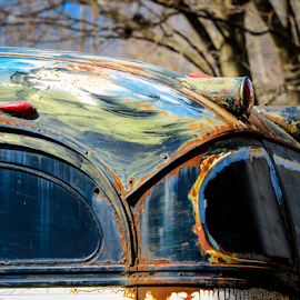 Rusted Masterpiece by Roberta Janik - Transportation Other ( funky bus, tour bus, bus, antique bus, old bus, rusted bus )
