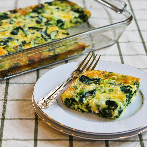 Spinach and Mozzarella Egg Bake Recipe | Yummly