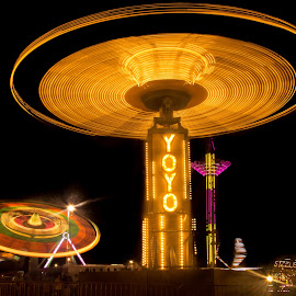 Local Fair by Scott Neal - Abstract Light Painting ( lights, rides, local fair, night, livingston parish,  )