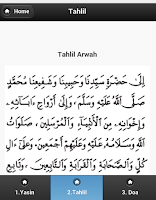 Screenshot of Kitab Tahlil Arwah Yasin