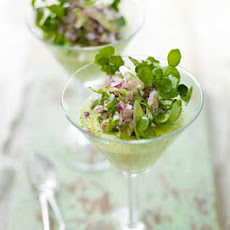 Asparagus Mousse With Ham & Red Onion Salad