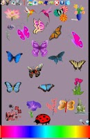 Screenshot of Flowers Butterfly Doodle Text!
