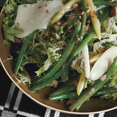 Summer Bean Salad with Toasted Walnuts and Pecorino Fresco