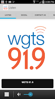 Screenshot of WGTS 91.9