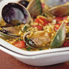 Soup of Fregula with Baby Clams (Fregula kin Arsellas) Recipe