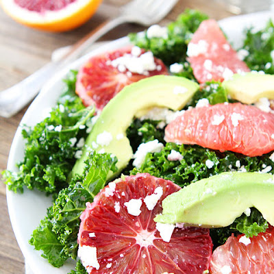 Kale Salad with Citrus, Avocado, and Feta