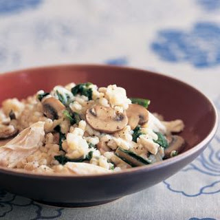 Barley Risotto with Chicken, Mushrooms and Greens