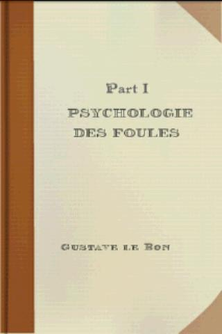 Psychologie des foules - I