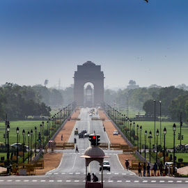 Rajpath  by Avanish Dureha - City,  Street & Park  Historic Districts ( rajpath, kingsway, indoa, rashtrapati bhavan, dureha @gmail.com, lutyen, new delhi, avanish dureha )